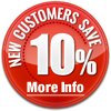 New customers Save 10% click for more info