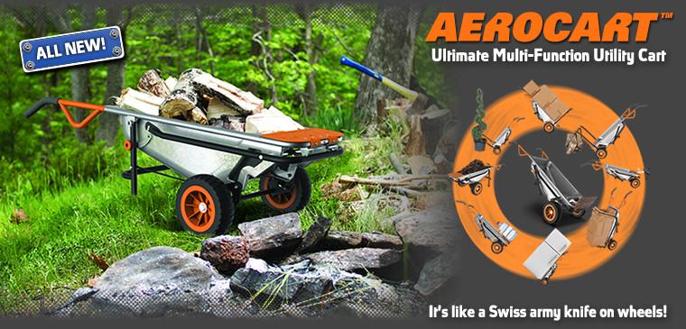 Worx Aerocart 8 in 1 Multi Function Yard Cart