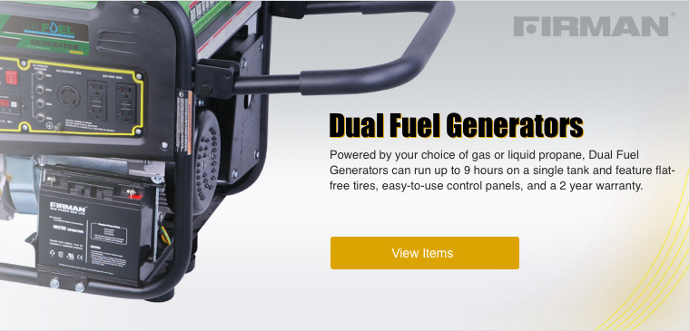 Shop Firman Dual Fuel Generators