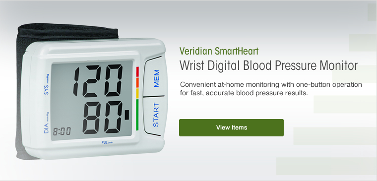 View the Veridian smartheart automatic wrist digital blood pressure monitor