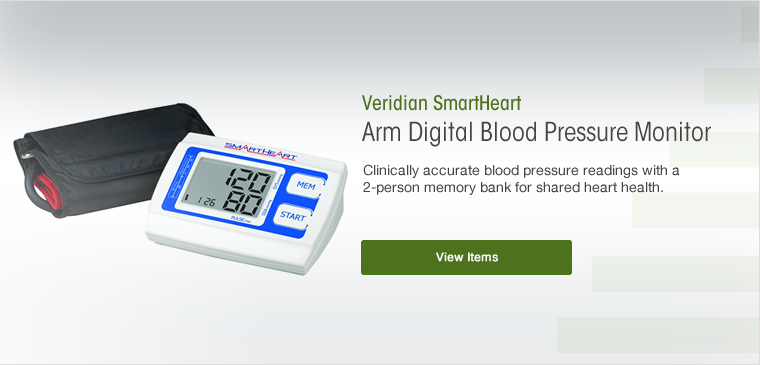 View the Veridian smartheart automatic arm digital blood pressure monitor