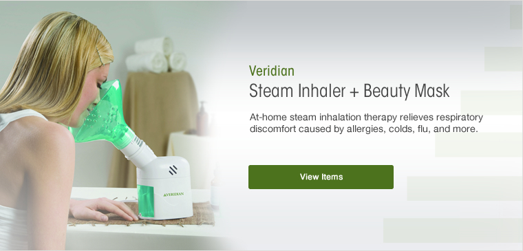 View the Veridian steam inhaler beauty mask