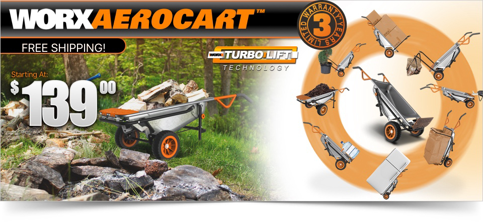 Worx Aerocart with Current Offer Price