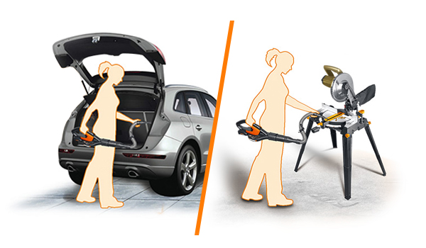 Use Worx Air to clean your car and workspace