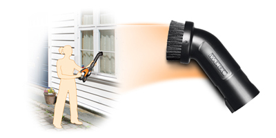 Worx Air dust brush cleaning soem windows