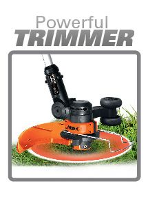 The Worx GT's Powerful Trimmer Feature