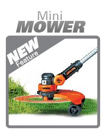 The Worx GT's Mini Mower Feature