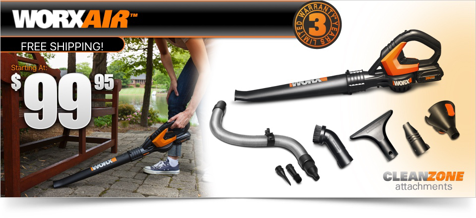 Worx Air Hero Image with Current Offer Price