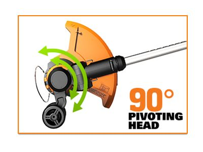 The Worx GT's 90 degree pivot head