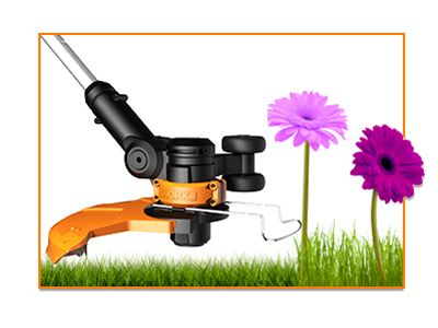 The Worx GT built in flower guard protecting 