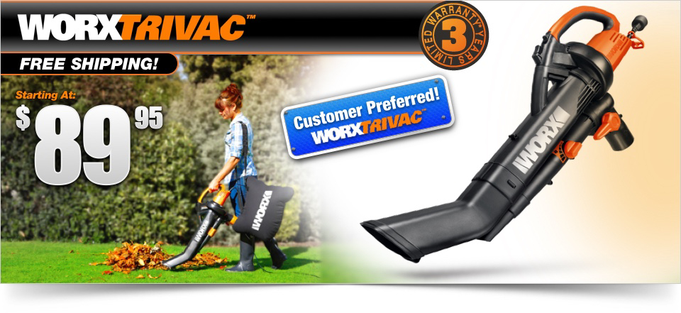 Worx Trivac Hero Image with Current Offer Price