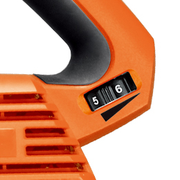 The Worx Trivac WG509's Electronic Variable Speed Control