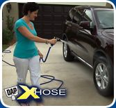 The XHOSE is great for washing automobiles