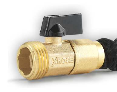 The Xhose Pro has solid brass fittings