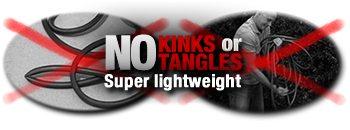 The XHOSE does not kink or tangle and is super lightweight